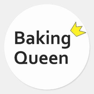 Baking Queen Classic Round Sticker