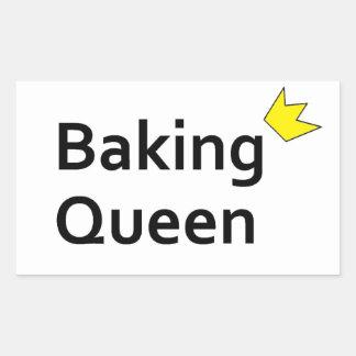 Baking Queen Rectangle Sticker