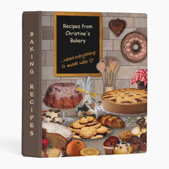 Baking Recipes Collection With Your Name Mini Binder