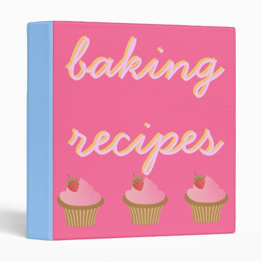 Baking recipes cupcake binder