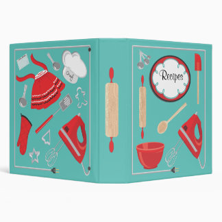 Baking Recipes with electric cord Frame 3 Ring Binder