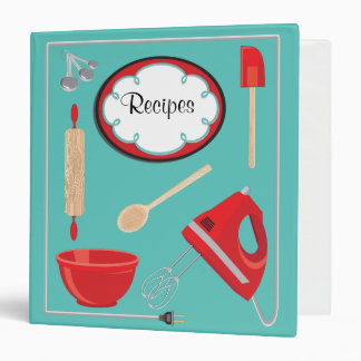 Baking Recipes with electric cord Frame Binder