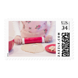Baking Rolling Pin Candy Heart Valentine Stamp