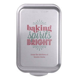 Baking Spirits Bright Festive Red & Green Holiday Cake Pan