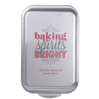 Baking Spirits Bright Festive Red & Green Holiday Cake Pan