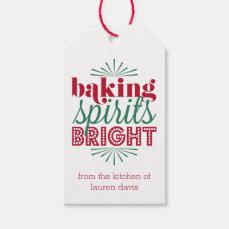 Baking Spirits Bright | Red & Green Holiday Gift Tags