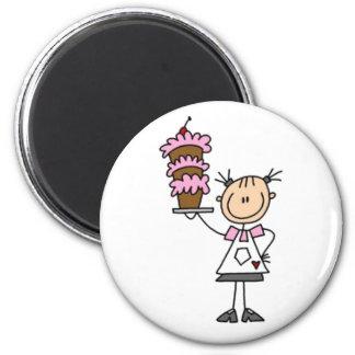 Baking Stick Figure 2 Inch Round Magnet