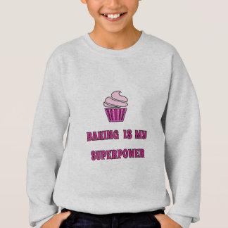 Baking superpower pink cupcake sweatshirt
