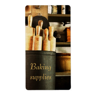 baking supplies customizable container label