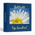 Baking Up Sunshine! binders Recipes Book Daisy