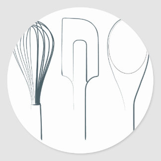Baking Utensils Classic Round Sticker