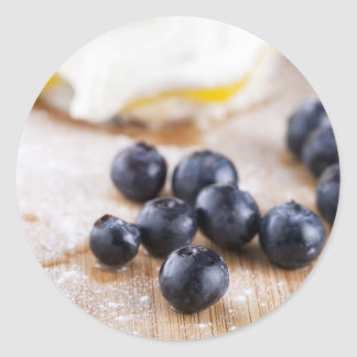 Baking with Blueberries Classic Round Sticker