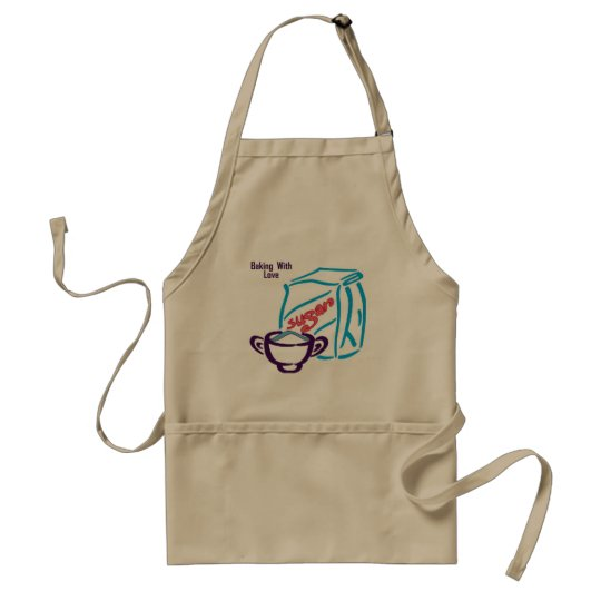 Baking with love adult apron