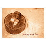 Baking with love. . . biscuit cutter business card
