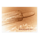 Baking with love . . . Rolling Pin Business Card