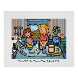 Baking With Mom by Jamie Wogan Edwards Print