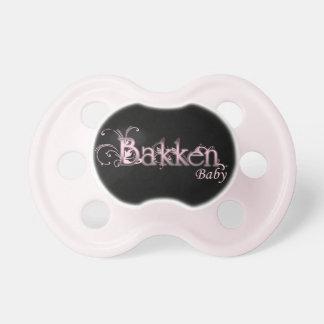 Bakken Baby Pacifier (Pink/Black) BooginHead Pacifier