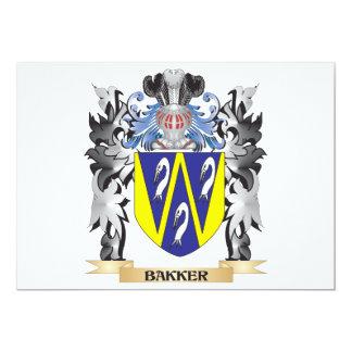 Bakker Coat of Arms - Family Crest 5x7 Paper Invitation Card