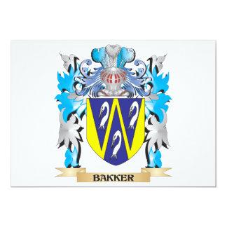 Bakker Coat of Arms 5x7 Paper Invitation Card