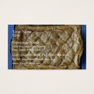 Baklava, a kind of pastry business card