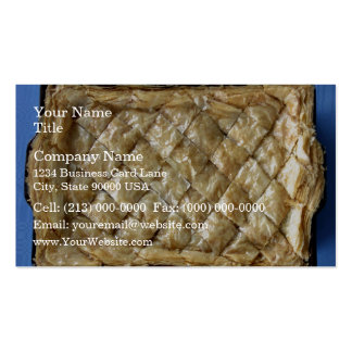 Baklava, a kind of pastry Double-Sided standard business cards (Pack of 100)