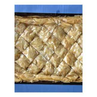 Baklava, a kind of pastry full color flyer