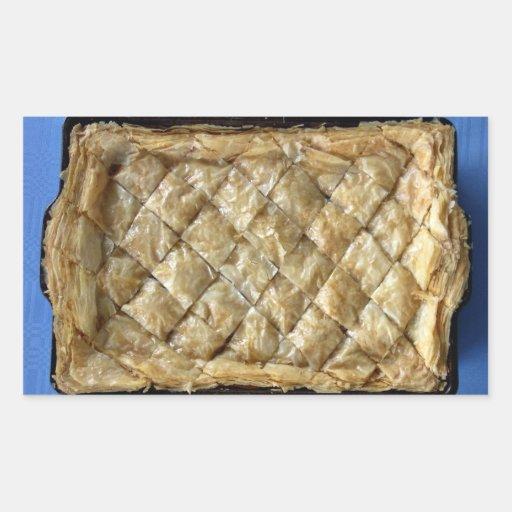 Baklava, una clase de pasteles pegatina rectangular
