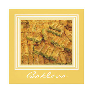 Baklava Wrapped Canvas Print