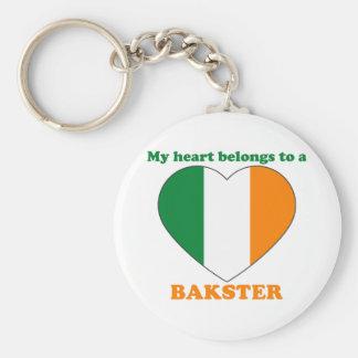 Bakster Basic Round Button Keychain
