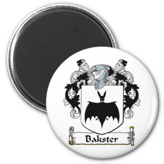 Bakster Family Crest 2 Inch Round Magnet