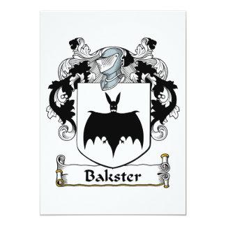 Bakster Family Crest 5x7 Paper Invitation Card