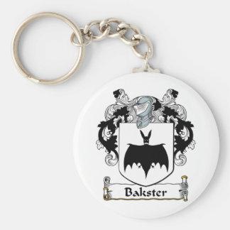 Bakster Family Crest Basic Round Button Keychain