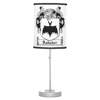 Bakster Family Crest Table Lamps
