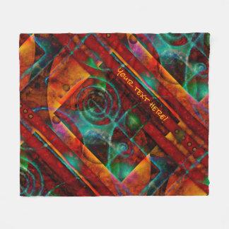 Baktun Mystical Spiral Abstract Fleece Blanket