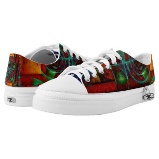 Baktun Mystical Spiral Abstract Low-Top Sneakers