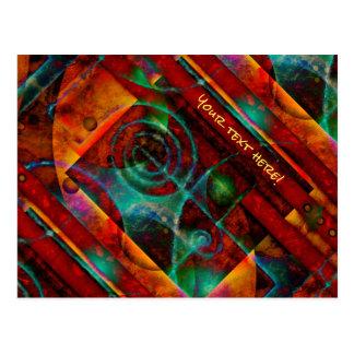 Baktun Mystical Spiral Abstract Postcard