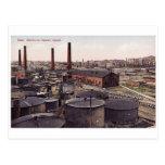 Baku vieja - ciudad negra - fábrica del aceite postales