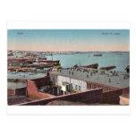 Baku vieja - visión desde el mar Caspio - morya de Postal