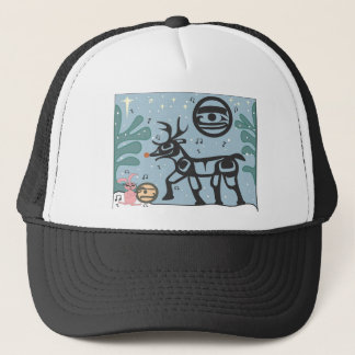 Bakwem Bunny & Rudy-Raindeer Celebrate Trucker Hat