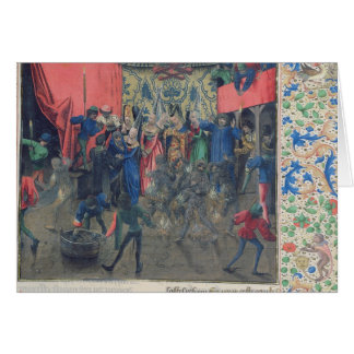 Bal des Ardents', Charles being saved Card