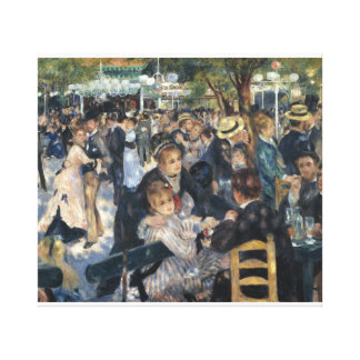 Bal du moulin de la Galette by  artist Renoir Canvas Print