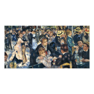 Bal Du Moulin De La Galette By Pierre-Auguste Reno Personalized Photo Card