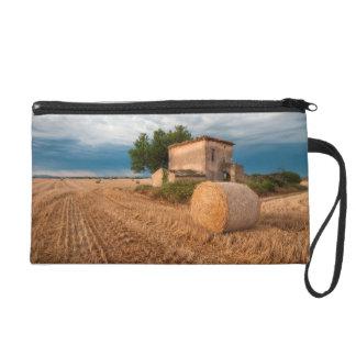 Bala de heno en el campo de Provence