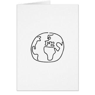 Bala de mundo globo mapamundi África Europa Tarjeta De Felicitación