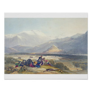 Bala Hissar and City of Kabul with the British Can Print