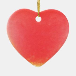 Bala roja brillante del vidrio del mar de Seaham Adorno De Cerámica En Forma De Corazón