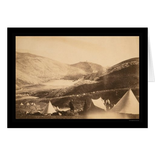 Balaclava Harbor from Guards Hill 1855 Card