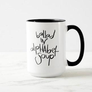 Balada en sopa del alfabeto taza