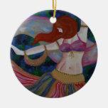 Baladi, Belly Dancer Beautiful Art Ornament