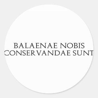 Balaenae Nobis Stickers